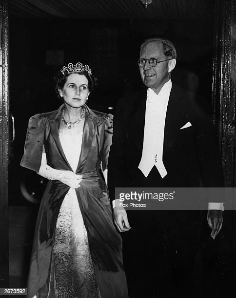 Ambassador to Britain Joseph Kennedy and his wife Rose Kennedy attending a reception at the French embassy in London Their son John became the 35th...