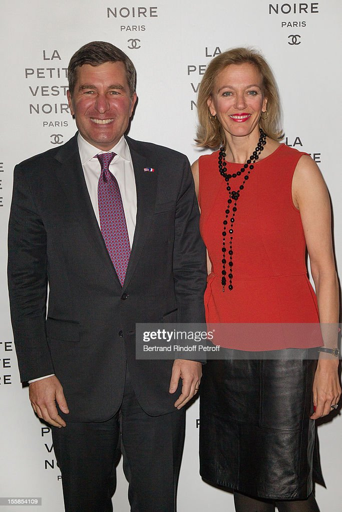 US ambassador to France Charles H. Rivkin and his wife Susan M. Tolson attend 'La Petite Veste Noire' Book Launch Hosted By Karl Lagerfeld & Carine Roitfeld at Grand Palais on November 8, 2012 in Paris, France.