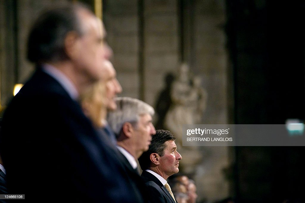 US ambassador to France Charles Rivkin attends a mass celebrated by French archbishop Andre Vingt-Trois in memory of the victims of the 9/11 attacks at the Notre Dame cathedral in Paris on September 11, 2011. French culture minister Frederic Mitterrand (L), French defence minister Gerard Longuet (3rdL) and (4thL) attend the mass. Several commemorations are held in France today to mark the 10th anniversary of the 9/11 attacks which killed almost 3,000 people in NYC and Washington and plunged the US into an era of war.