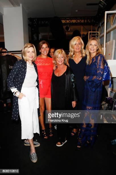 Ambassador to Germany Kimberly Emerson MarieJeanette Ferch designer Elisabeth Schwaiger Judith Milberg and Ursula Karven attend the Laurel show...