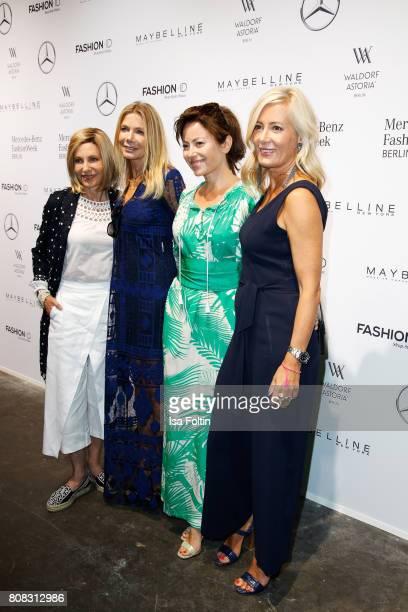 US Ambassador to Germany Kimberly Emerson Ursula Karven Carolina Vera and Judith Milberg attend the Laurel show during the MercedesBenz Fashion Week...