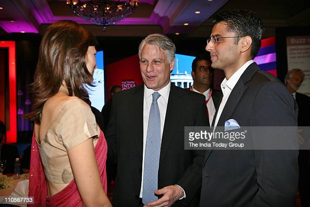 Ambassador to India Timothy J Roemer with Sachin Pilot Union Minister of State for Communications and Information Technology at the gala dinner