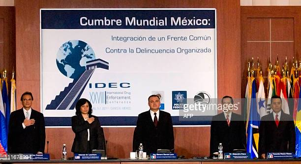 US ambassador to Mexico Carlos Pascual the director of the US Drug Enforcement Administration Michele M Leonhart Mexican Secretary of Public Safety...