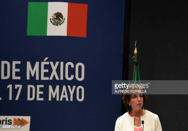 US ambassador to Mexico Roberta Jacobson delivers her speech during the opening of the National Fentanyl Forensic Chemistry Conference in Mexico City...