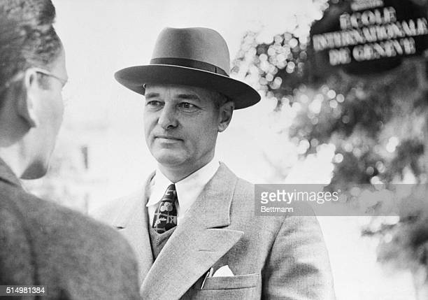 US Ambassador to Russia George F Kennan chats with a newsman after the Russian government told the US State Department that Kennan must be recalled...