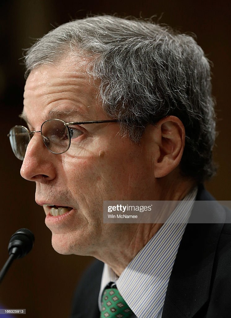 U.S. Ambassador to the Syrian Arab Republic Robert Ford testifies before the Senate Foreign Relations Committee on Capitol Hill April 11, 2013 in Washington, DC. Ford testified on current U.S. policy toward Syria.