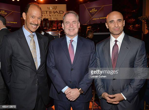 US Ambassador to the United Arab Emirates Michael H Corbin James Hogan President and Chief Executive of Etihad Airways and Ambassador of the United...