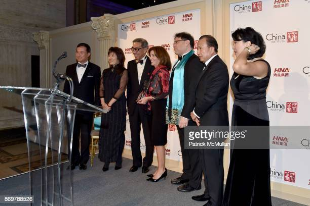 Ambassador Zhang Qiyue Chien Chung Pei Kathy Hochul James Heimowitz Chen Guoqing and Anla Cheng attend China Institute 2017 Blue Cloud Gala at...