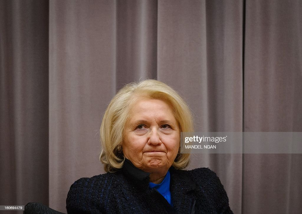 US Ambassador-at-Large for Global Women's Issues Melanne Verveer is seen at an announcement of the recipients of the Women Entrepreneurs in the Americas (WEAmericas) small grants on February 4, 2013 at the Department of State in Washington, DC. Verveer will be stepping down soon from her post. AFP PHOTO/Mandel NGAN