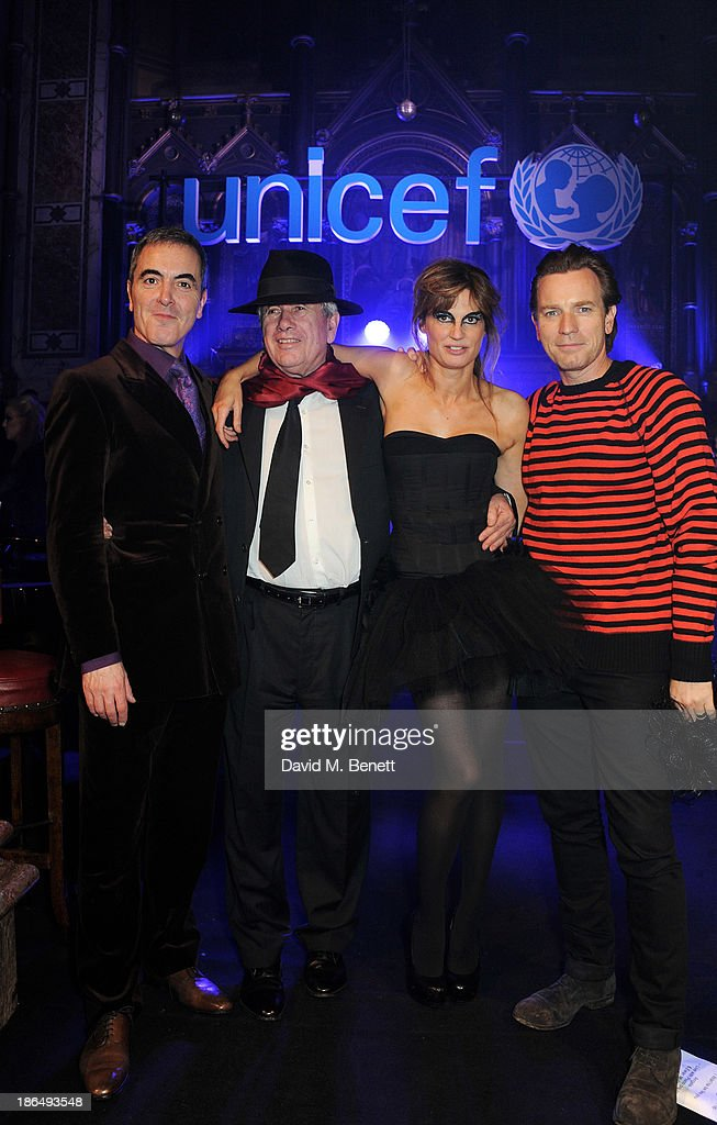 Ambassadors <a gi-track='captionPersonalityLinkClicked' href=/galleries/search?phrase=James+Nesbitt&family=editorial&specificpeople=211175 ng-click='$event.stopPropagation()'>James Nesbitt</a>, Martin Bell, Jemima Khan and <a gi-track='captionPersonalityLinkClicked' href=/galleries/search?phrase=Ewan+McGregor&family=editorial&specificpeople=202863 ng-click='$event.stopPropagation()'>Ewan McGregor</a> attend the UNICEF UK Halloween Ball hosted by Jemima Khan, raising vital funds for UNICEF's work for children affected by the current Syria crisis, at One Mayfair on October 31, 2013 in London, England. All money raised for Unicef from today - and for the next three months - will be matched pound for pound by the UK Government to help the children of Syria. Text 'Syria' to 70007 to give £5 to help UNICEF reach even more children caught up in the crisis.