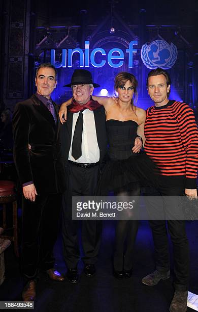 Ambassadors James Nesbitt Martin Bell Jemima Khan and Ewan McGregor attend the UNICEF UK Halloween Ball hosted by Jemima Khan raising vital funds for...