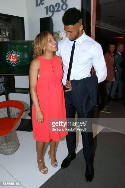 Ambassadors of Olympic Games of Paris 2024 and Olympic Champions of Boxe Estelle Mossely and Tony Yoka attend the 2017 Roland Garros French Tennis...