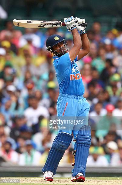Ambati Rayudu of India bats during the One Day International match between Australia and India at Sydney Cricket Ground on January 26 2015 in Sydney...