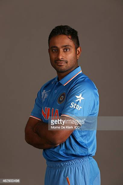 Ambati Rayudu poses during the India 2015 ICC Cricket World Cup Headshots Session at the Intercontinental on February 7 2015 in Adelaide Australia