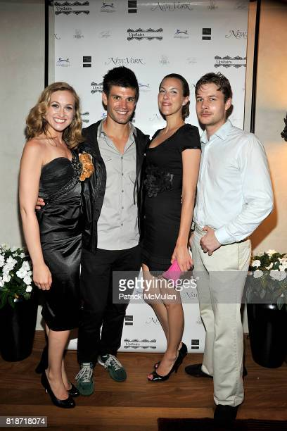 Amber Abdella Carlo Romero Michelle Ponto and Andrew Fitzsimons attend Kick off Summer with New York Magazine at the Upstairs Rooftop Opening with...