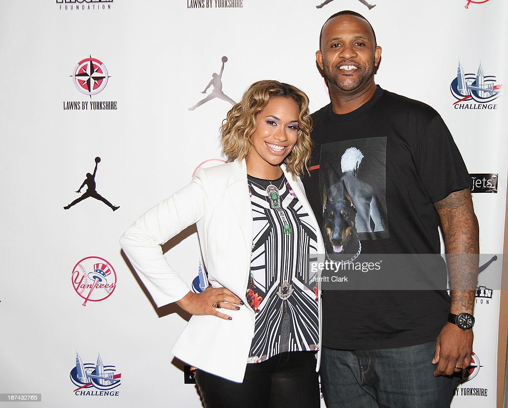 Amber and C.C. Sabathia attend their PitCCh In Foundation 2013 Challenge Rules Party at Luxe at Lucky Strike Lanes on November 8, 2013 in New York City.