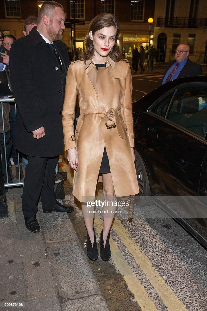Amber Anderson arrive the Weinsten x Grey Goose Pre BAFTA party at Little House Mayfair on February 12 2016 in London England