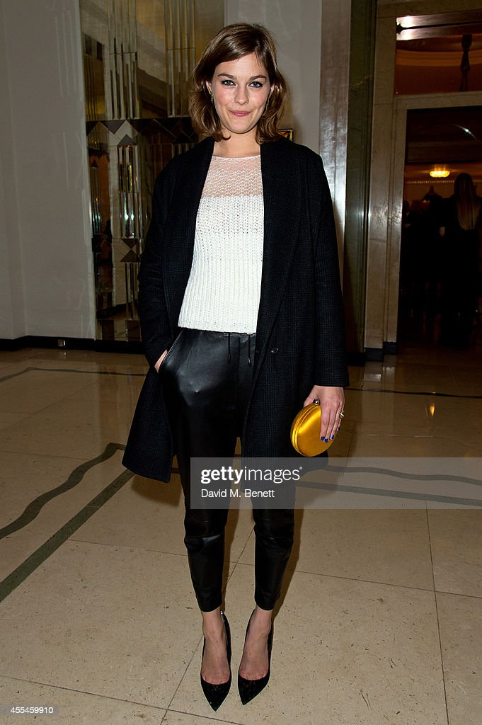 Amber Anderson attends Pringle of Scotland SS15 show during London Fashion Week at Claridges Hotel on September 14 2014 in London England