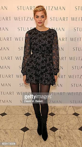 Amber Anderson attends Stuart Weitzman's private VIP dinner at Royal Academy of Arts to celebrate opening of it's London flagship boutique on...