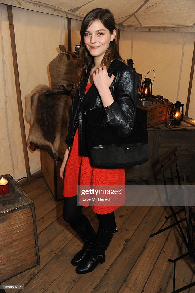 Amber Anderson attends the 'BALLY Celebrates 60 Years of Conquering Everest' at Bedford Square Gardens on January 7, 2013 in London, England.