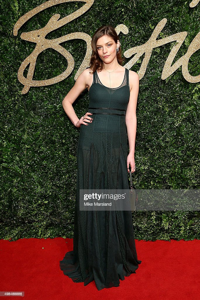 Amber Anderson attends the British Fashion Awards 2015 at London Coliseum on November 23 2015 in London England