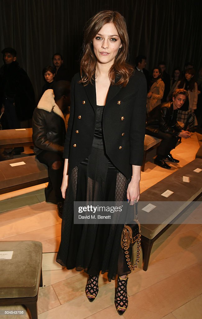 Amber Anderson attends the Burberry Menswear January 2016 Show on January 11 2016 in London United Kingdom