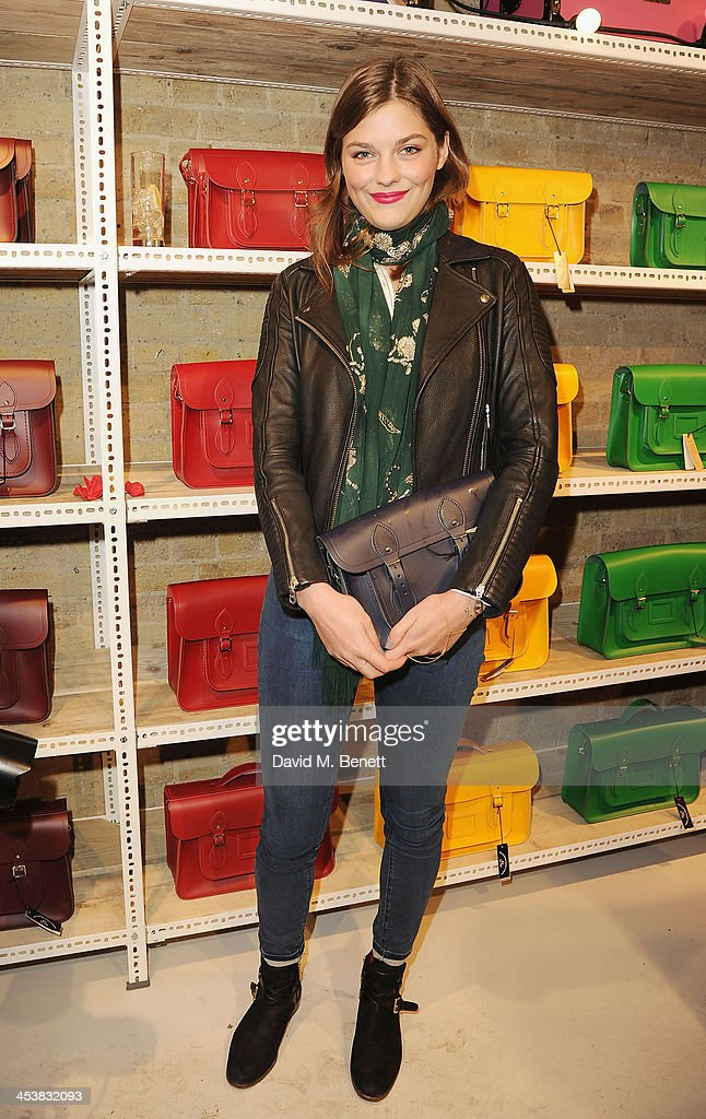 Amber Anderson attends The Cambridge Satchel Company launch of their East London pop up store on December 5 2013 in London England