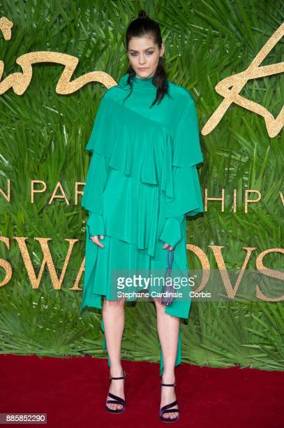 Amber Anderson attends the Fashion Awards 2017 In Partnership With Swarovski at Royal Albert Hall on December 4 2017 in London England
