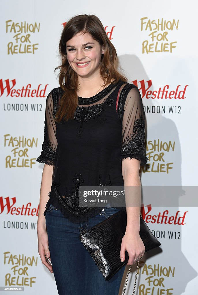 Amber Anderson attends the 'Fashion For Relief' Pop Up Launch at Westfield London on November 27 2014 in London England