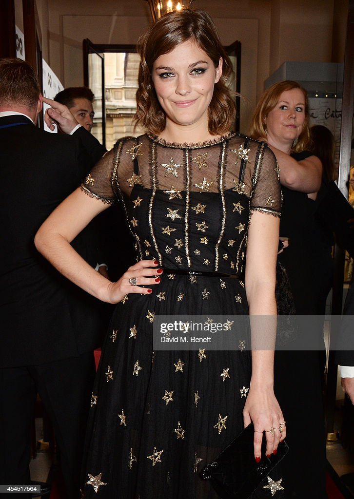 Amber Anderson attends the GQ Men Of The Year awards in association with Hugo Boss at The Royal Opera House on September 2 2014 in London England