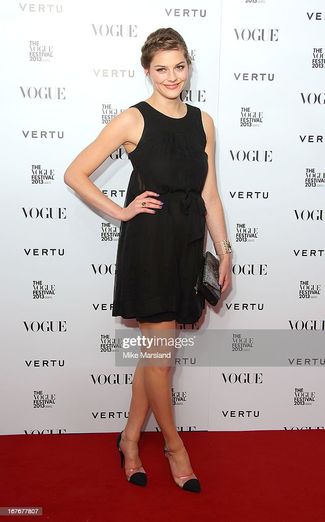 Amber Anderson attends the opening party for The Vogue Festival in association with Vertu at Southbank Centre on April 27, 2013 in London, England.