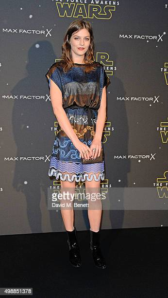 Amber Anderson attends the Star Wars Fashion Finds The Force presentation at the Old Selfridges Hotel London 10 Londonbased designers showcased...