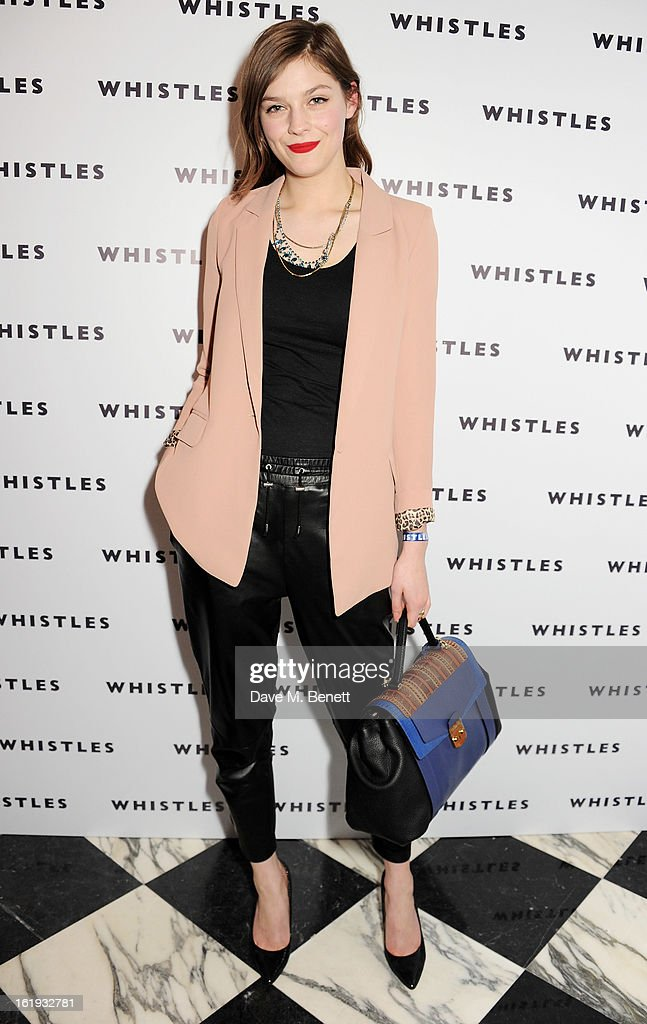 Amber Anderson attends the Whistles Limited Edition Autumn/Winter 2013 Collection party at The Arts Club on February 17, 2013 in London, England.