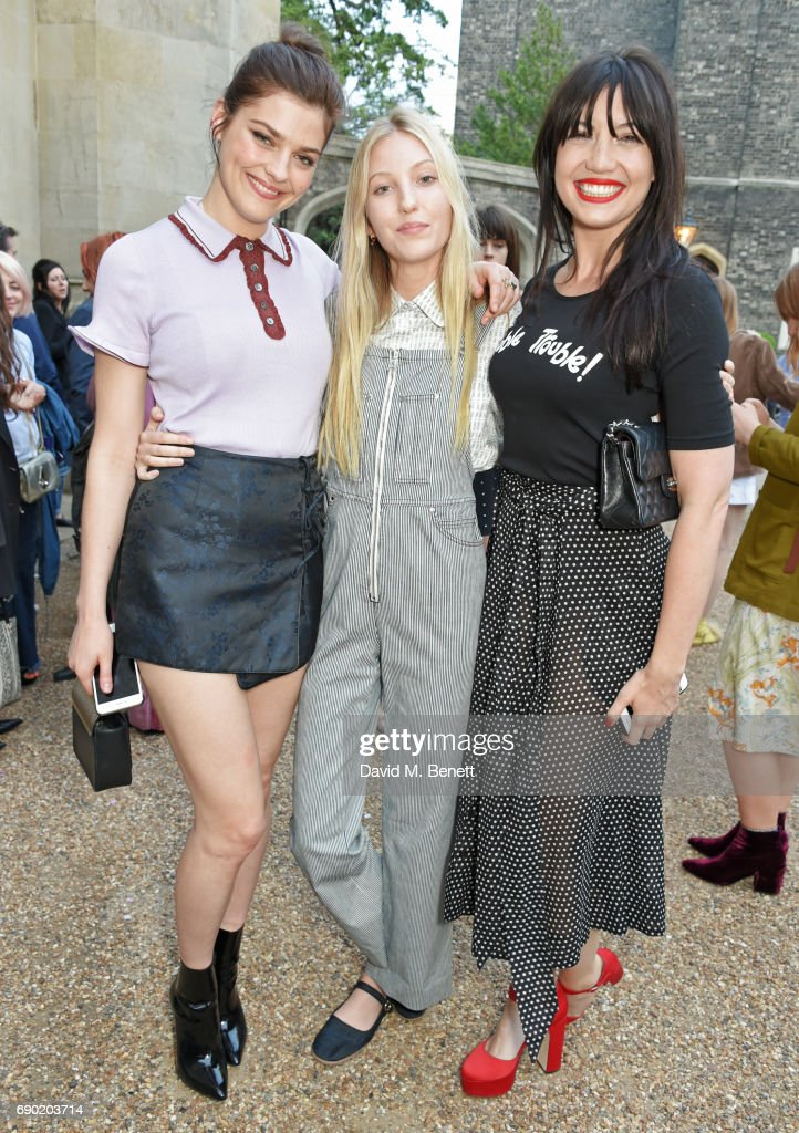 Amber Anderson, Ella Richards and Daisy Lowe attend the ALEXACHUNG London Launch & Summer 17 Collection Reveal at the Danish Church of Saint Katharine on May 30, 2017 in London, England.