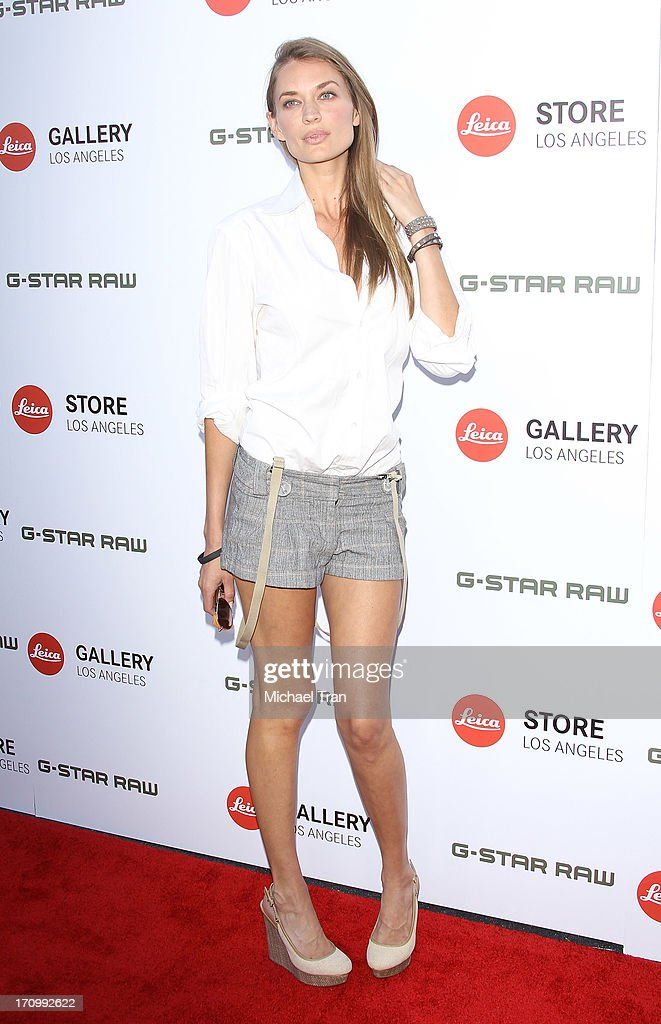 Amber Arbucci arrives at the grand opening of the Leica Store Los Angeles held on June 20, 2013 in Los Angeles, California.
