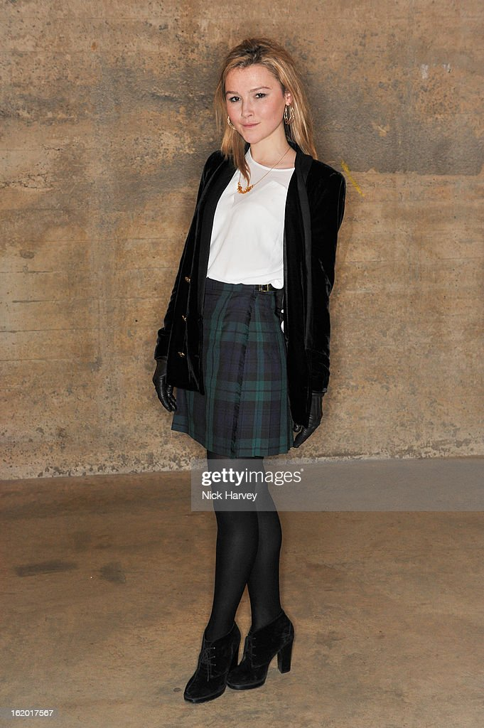 Amber Artherton attends the Fashion East show during London Fashion Week Fall/Winter 2013/14 at TopShop Show Space on February 18, 2013 in London, England.
