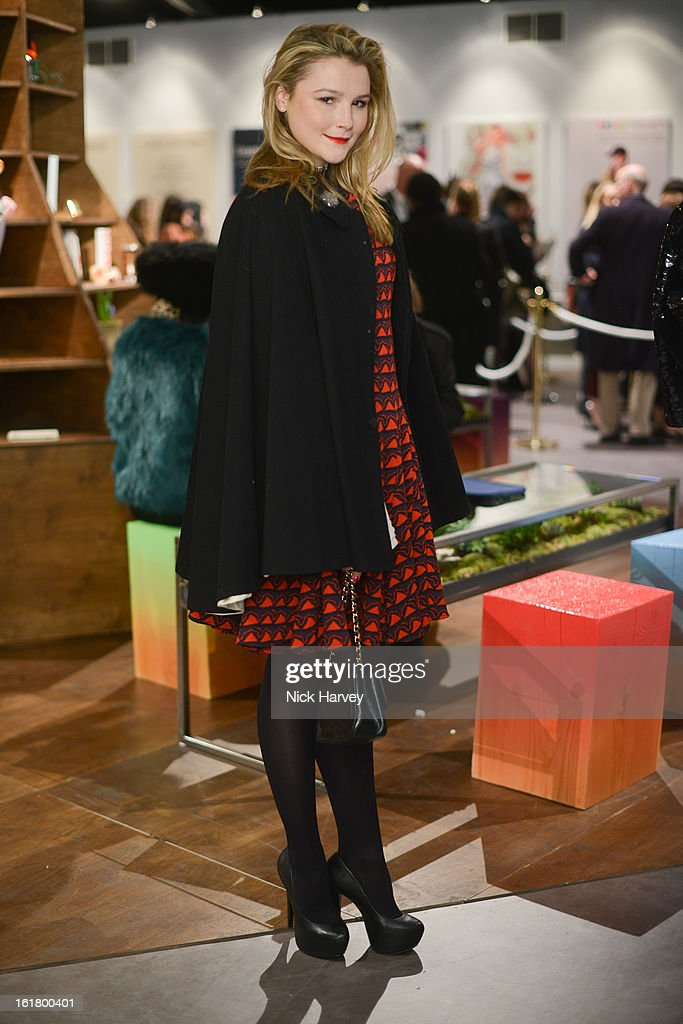 Amber Artherton attends the Issa London show during London Fashion Week Fall/Winter 2013/14 at Somerset House on February 16, 2013 in London, England.