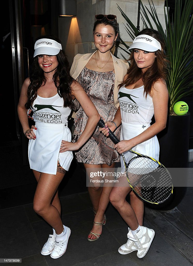 Amber Athereton (C) attends the The Slazenger Party at Aqua on June 28, 2012 in London, England.