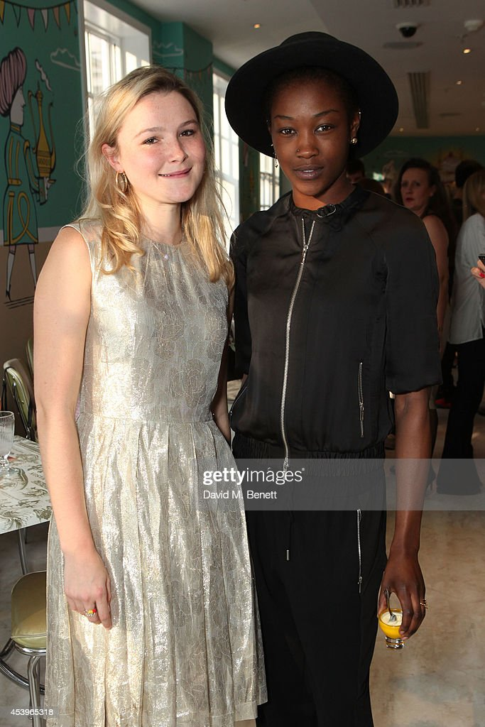 <a gi-track='captionPersonalityLinkClicked' href=/galleries/search?phrase=Amber+Atherton&family=editorial&specificpeople=7192882 ng-click='$event.stopPropagation()'>Amber Atherton</a> and Betty Adewole attend the launch of Victoria Young x MYFLASHTRASH, a jewellery collaboration between <a gi-track='captionPersonalityLinkClicked' href=/galleries/search?phrase=Amber+Atherton&family=editorial&specificpeople=7192882 ng-click='$event.stopPropagation()'>Amber Atherton</a> and Victoria Young, at Fortnum & Mason's newly refurbished The Parlour restaurant on August 22, 2014 in London, England.