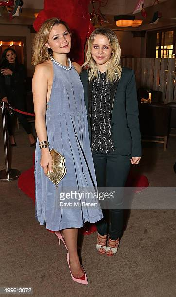 Amber Atherton and Billie JD Porter attend the unveiling of a very special Malone Souliers Christmas tree in support of Starlight Children's...