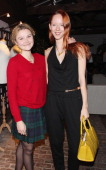 Amber Atherton and Mowenna Lytton Cobbold attend the Peter Saville for Lacoste launch at Shoreditch House on November 28 2013 in London England