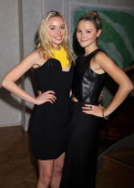Amber Atherton and Noelle Reno attend the afterparty of 'Fly to Baku' at Baku Restaurant Sloane Street on January 17 2012 in London England The event...
