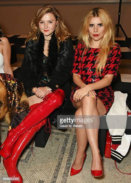 Amber Atherton and Paloma Faith attend the Ashish VA Fashion In Motion show at The VA on October 23 2015 in London England