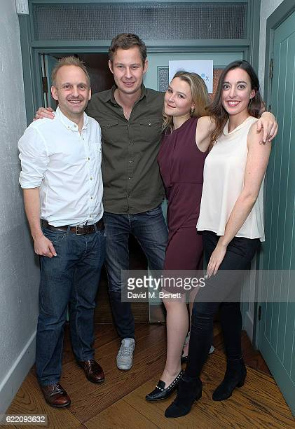 Amber Atherton and the Moneybox Team attend the Moneybox App private dinner at Andina on November 9 2016 in London England