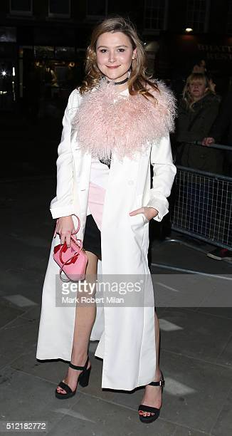 Amber Atherton attending the The Brit Awards Warner Music Group After Party on February 24 2016 in London England