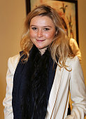 Amber Atherton attends a dinner to celebrate SelfPortrait Studio's 1st Anniversary with Han Chong at Victoria Miro Gallery on November 25 2014 in...