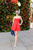 Amber Atherton attends a Tropical Fete with floral workshop by celebrity stylist Martha Ward and Wild at Heart at the Kate Spade New York Sloane...