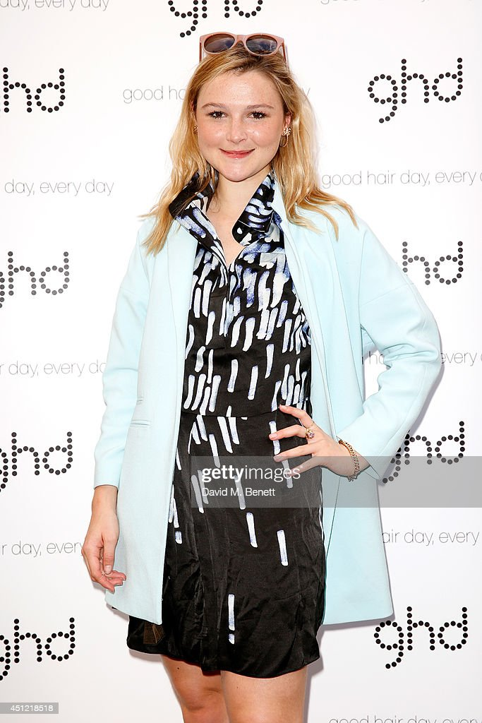 Amber Atherton attends ghd's exhibition of iconic beauty must-haves to celebrate the launch of ghd aura, a ground-breaking drying and styling tool on June 25, 2014 in London, England.
