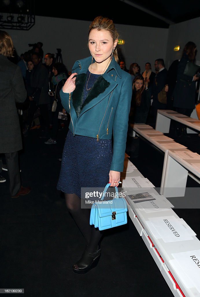 Amber Atherton attends the Aminaka Wilmont show during London Fashion Week Fall/Winter 2013/14 at Somerset House on February 19, 2013 in London, England.