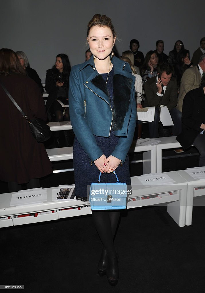 Amber Atherton attends the Ashish show during London Fashion Week Fall/Winter 2013/14 at Somerset House on February 19, 2013 in London, England.